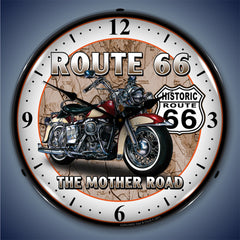 "Route 66 ""The Mother Road"" 14"" LED Wall Clock"