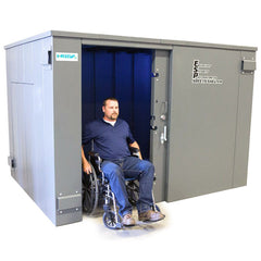 Swisher ESP Wheelchair Accessible Safety Shelter - 20 Person Private / 12 Person Business