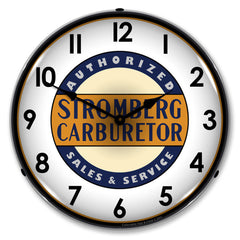 "Stromberg Carburetor Authorized Sales & Service 14"" LED Wall Clock"