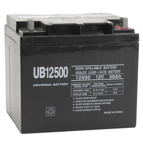 Universal Battery 12V 50 Ah SLA/AGM Battery