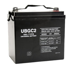 UPG 6V 200 Ah GEL Golf Cart Battery