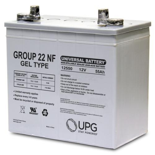 Universal Battery 12V 55 Ah Sealed Gel Battery