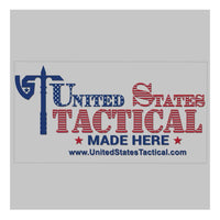 US Tactical Nested Logo Sticker - American Flag on Clear