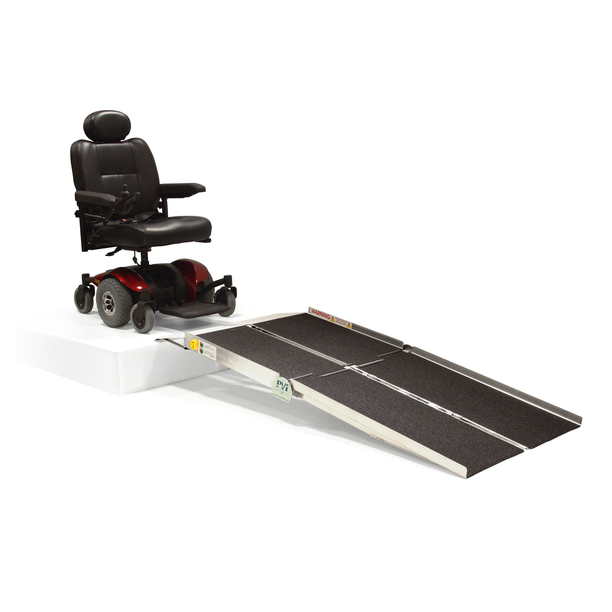 PVI Ramps Multifold Reach Wheelchair Ramp with Extended Lip