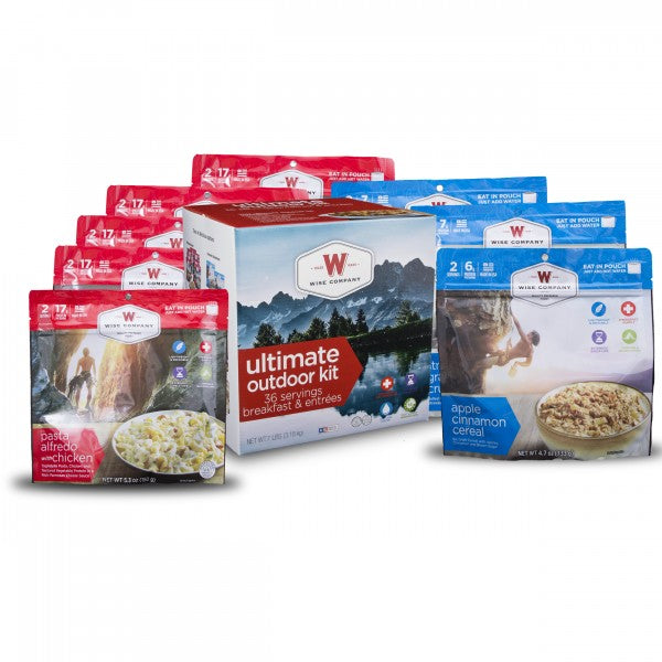 WISE Company Ultimate Outdoor Kit (36 Servings of Breakfast and Entrees)