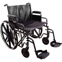 Roscoe ProBasics Bariatric Wheelchair with Removable Desk Length Elevating Legrests
