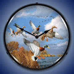 "Mallards 14"" LED Wall Clock"