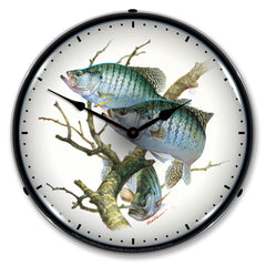 "Crappies 14"" LED Wall Clock"
