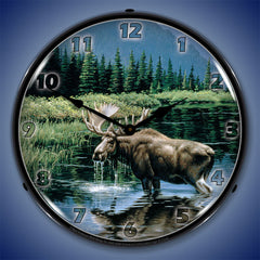 "Northern Solitude 14"" LED Wall Clock"