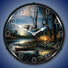 "Evening Glow 14"" LED Wall Clock"