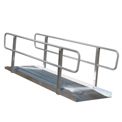 PVI Ramps OnTrac Non-Folding Wheelchair Ramp with Grooved Aluminum Handrails