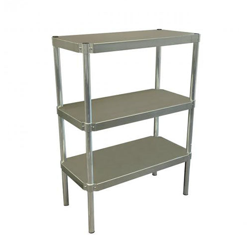 PVI Food Service 3-Shelf Stainless Steel Shelving Unit