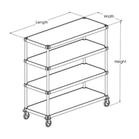 PVI Food Service Mobile Queen Mary Shelving Unit