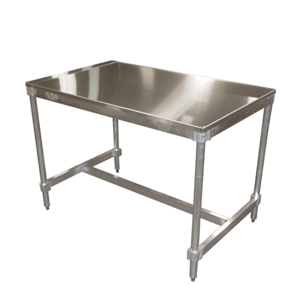 PVI Food Service Stainless Top I-Frame Table