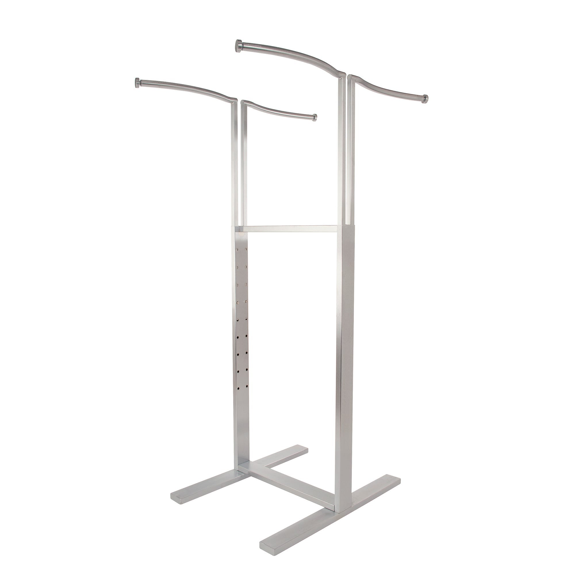 Econoco Adjustable 4-way Merchandiser with S-Shaped Hang Rail