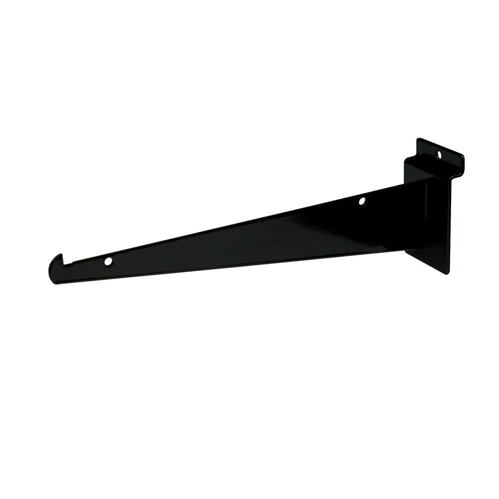 Econoco Shelf Brackets For Slat Wall - Black (48 Pcs. Per Carton)