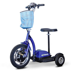 EWheels EW-18 Stand-in-Ride 3-Wheel Folding Mobility Scooter