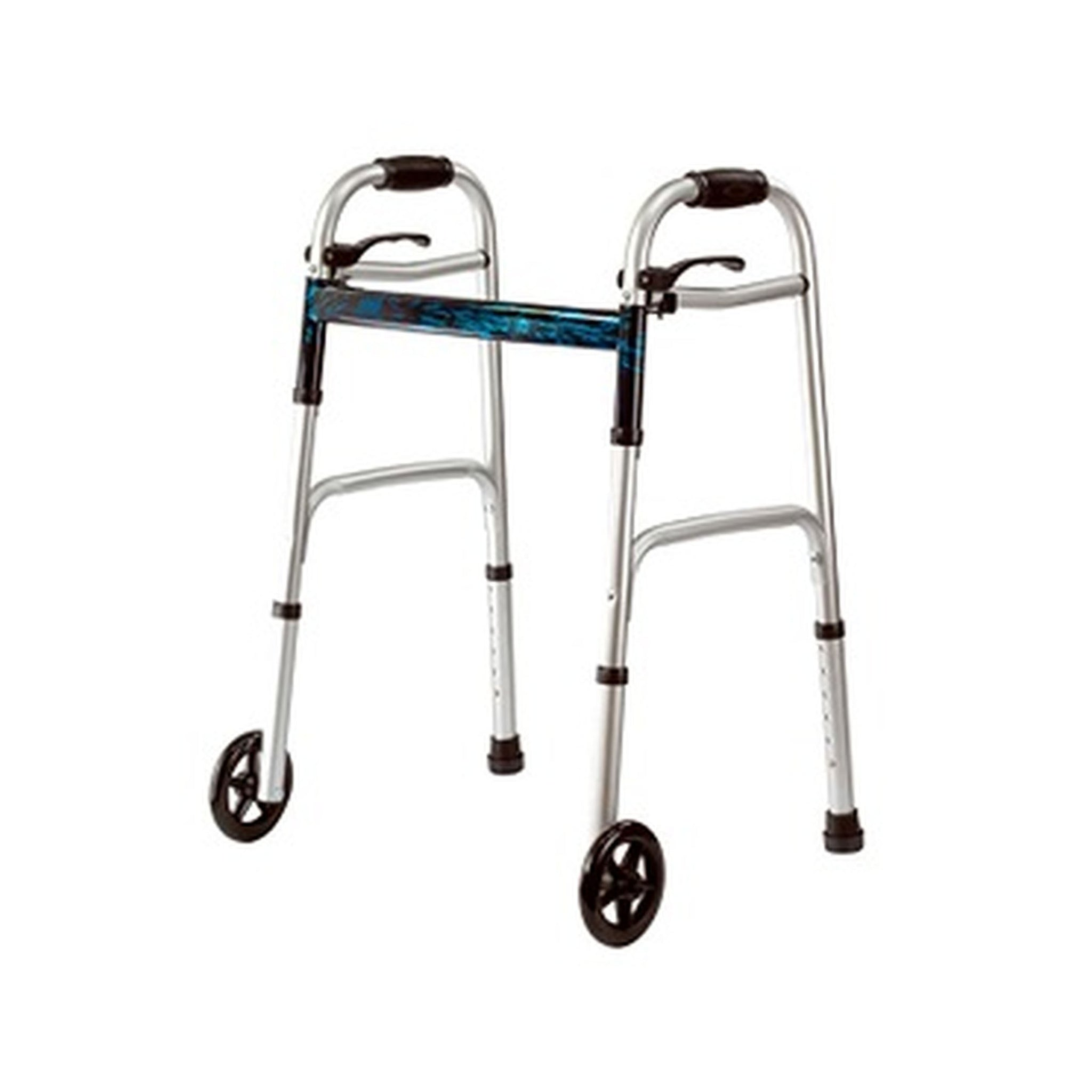 MOBB Aluminum Folding Walker with Wheels
