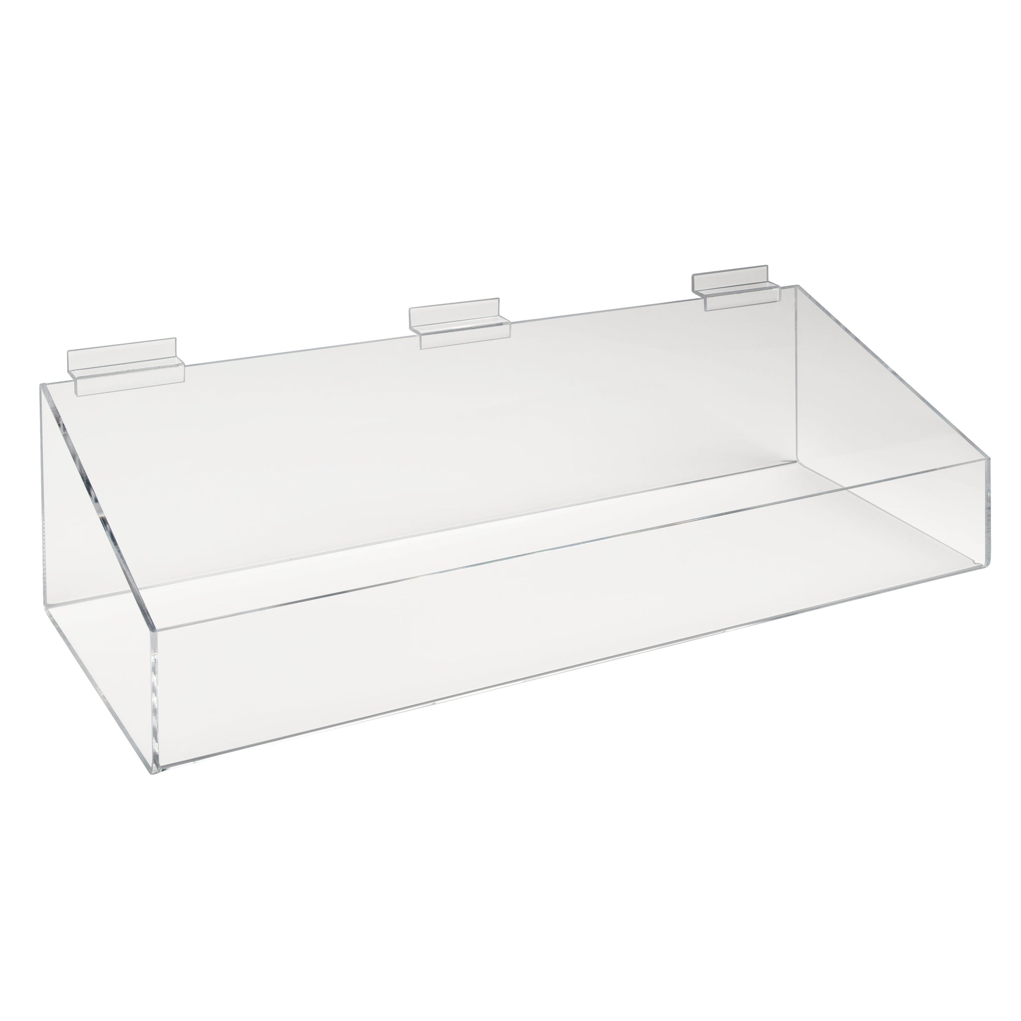 Econoco Acrylic Extra Support Tray With High Sides For Slatwall (2 Pcs. Per Carton)