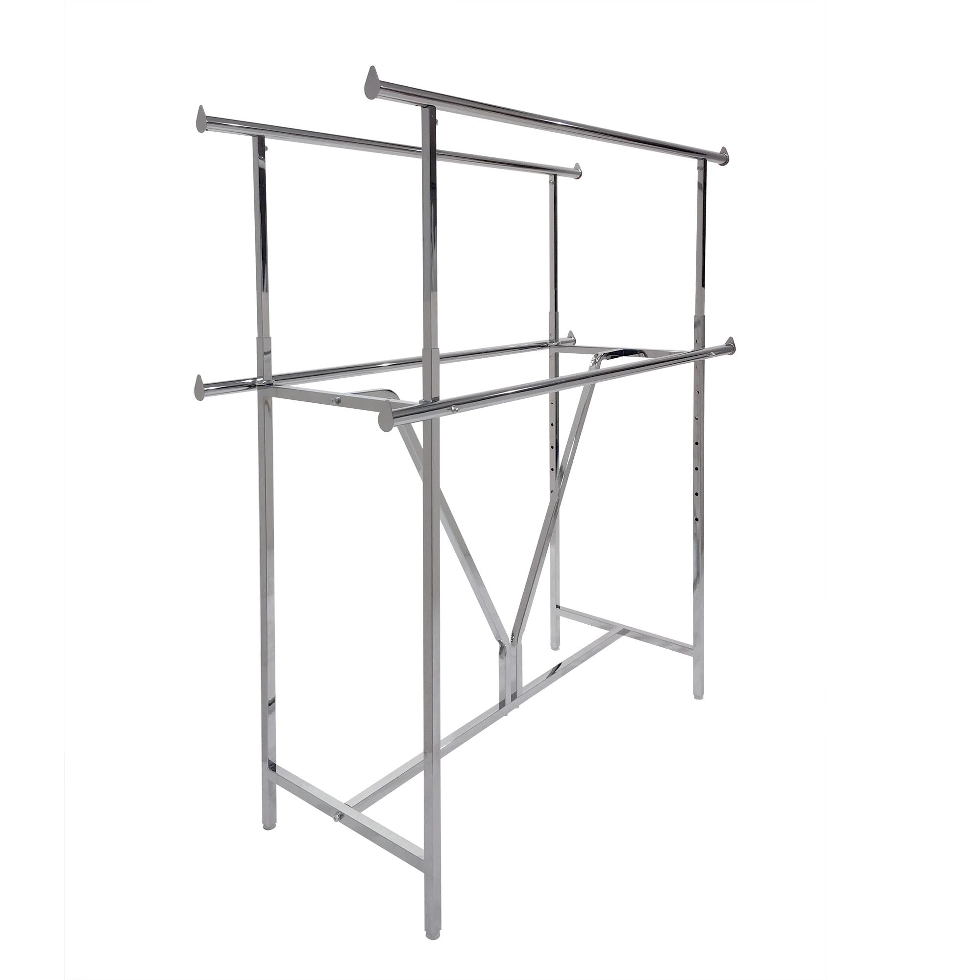 Econoco Clamp-On Hangrail for Double Bar Racks K40 and K41. Priced per Rail (2 Pcs. Per Carton)