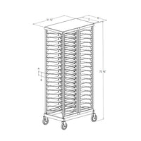 PVI Food Service Double Deep Pizza Rack