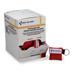 First Aid Only CPR Mask Keychain, 30 Per Box