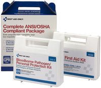 First Aid Only 25 Person Complete ANSI/OSHA Compliance Package for First Aid and BBP, Bloodborne Pathogens