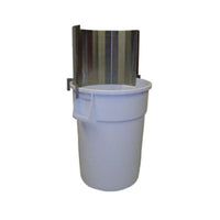 PVI Food Service Trash Can with Back Splash