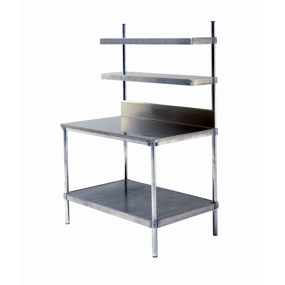 "PVI Food Service Two 12"" W Cantilever Shelves Workstation"