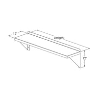 PVI Food Service Aluminum Microwave Wall Mount Shelf