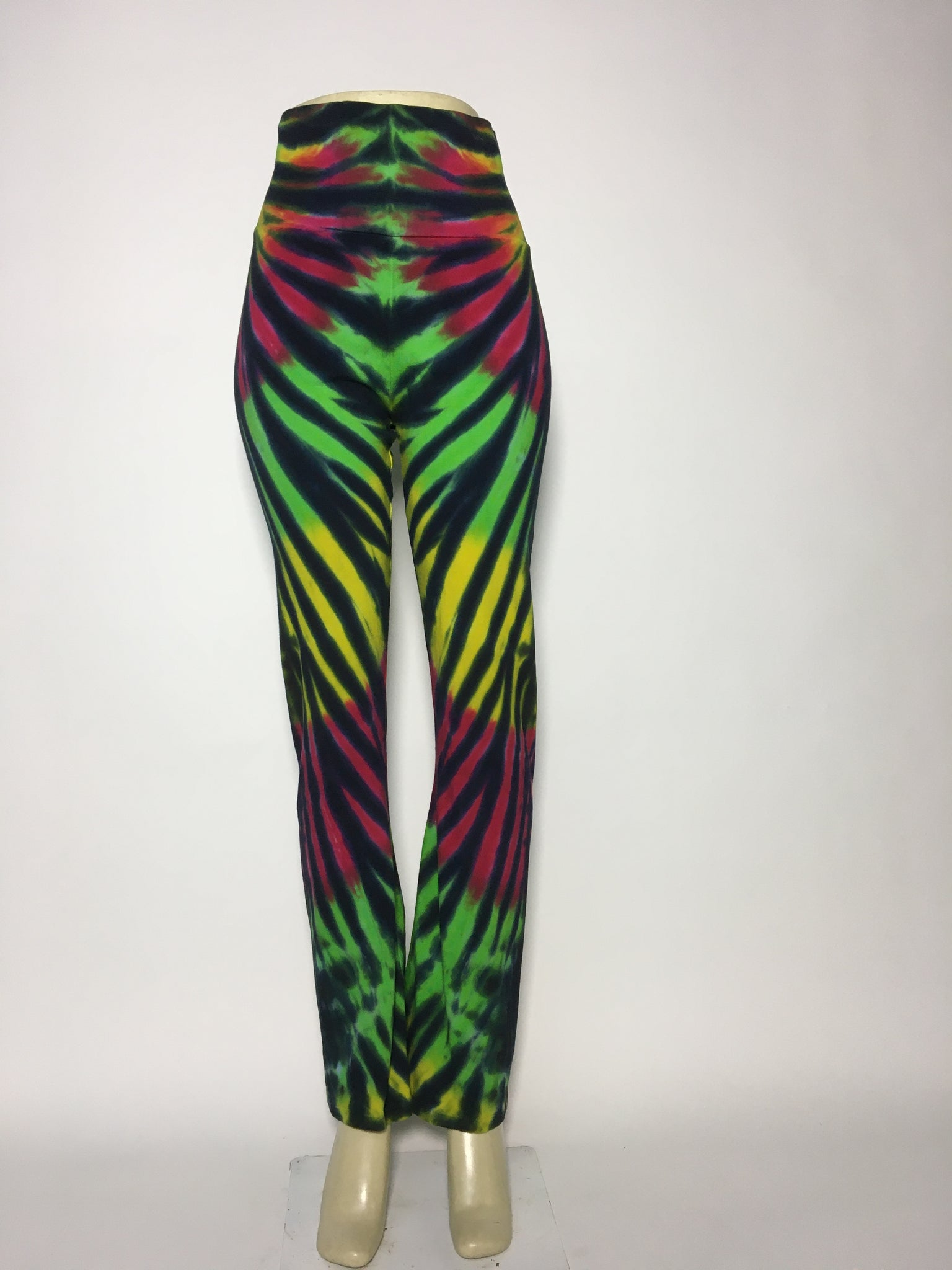 Rasta Tiger Stripe Leggings LG