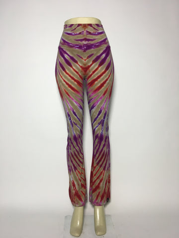 Camel Stripe Yoga Pants MD