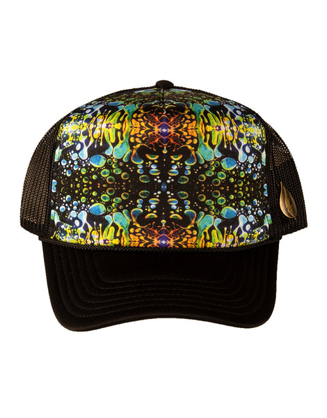 Green Liquid Light Trucker Hat