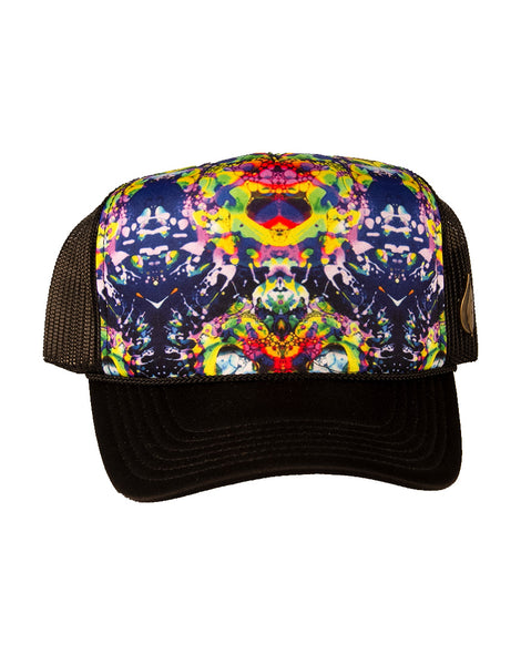 Rainbow Liquid Light Trucker Hat