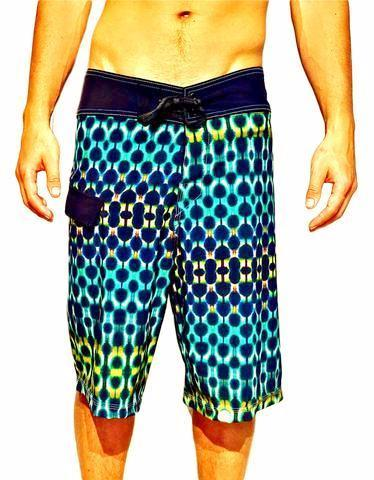Boardshorts, Mens, GREEN SCALES
