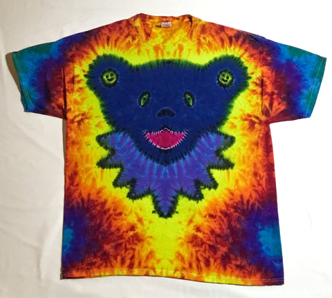 Blue Smiley Jammin Bear 2X