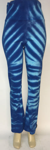 Azure Lightning Yoga Pants LG