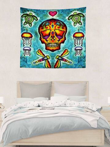 Jammin On Tapestries, Dye-Sub, LOS MUERTOS SUGAR SKULL