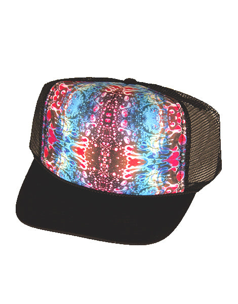 Red Liquid Light Trucker Hat