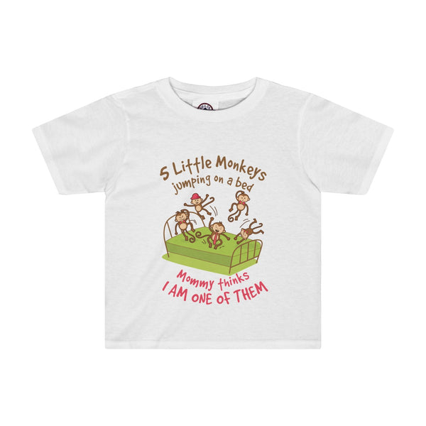 Monkeys Jumping(Pink Print) Toddler Tee - 4 Colors