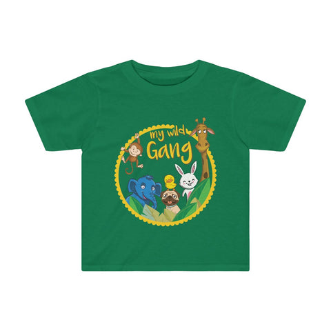 My Wild Gang Toddler Tee - Kelly Green