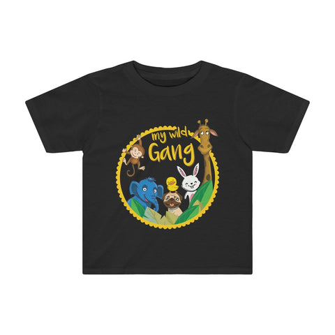 My Wild Gang Toddler Tee - Black