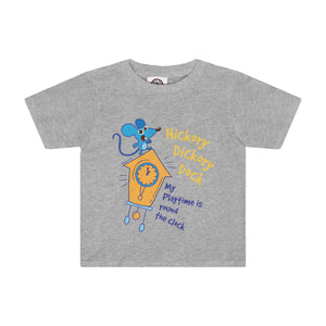 Hickory Dickory Dock Toddler Tee - 5 Collors