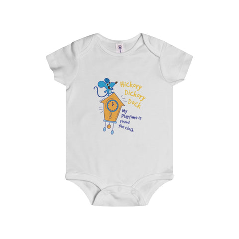 Hickory Dickory Dock Infant Onesie - 4 Colors