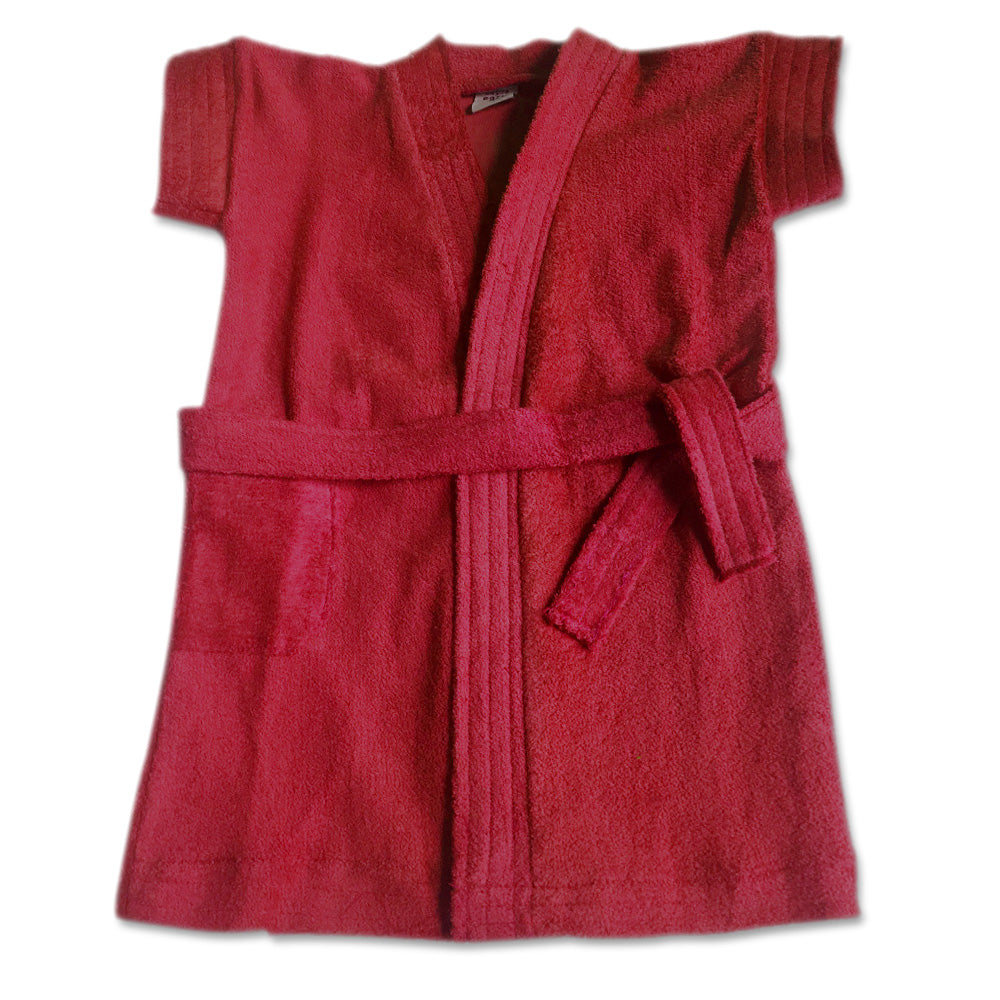 Bathrobe for babies & toddlers - Burgundy/Dark Red