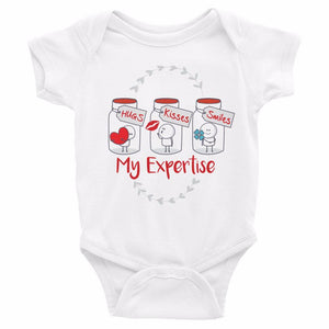 My Expertise(grey print) Onesie - 2 colors