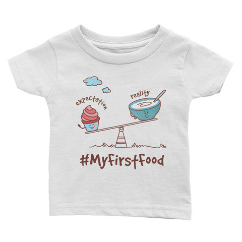 My 1st Food Infant Tee - White