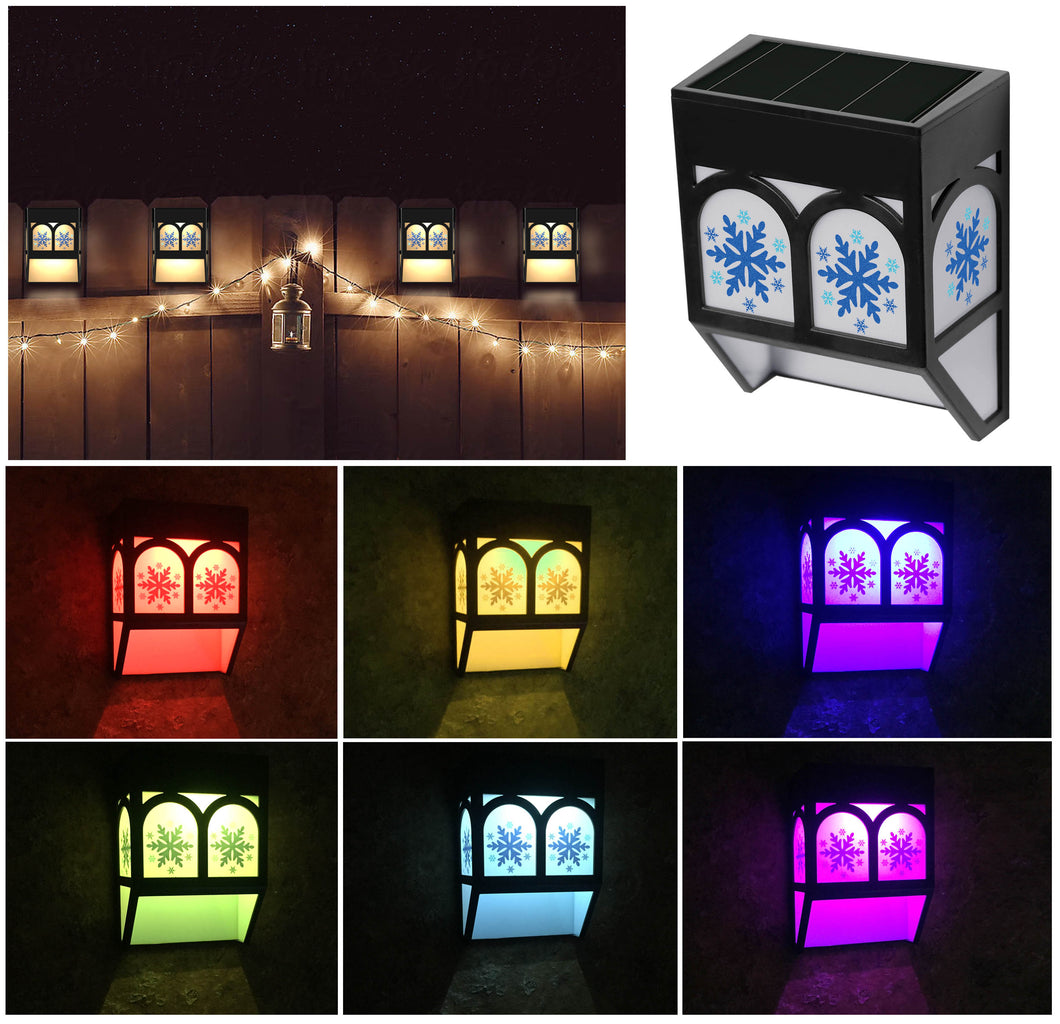 Solar Powered Christmas Snow Color Changing Mount Light Outdoor Landscape Garden Yard Fence Warm (4)