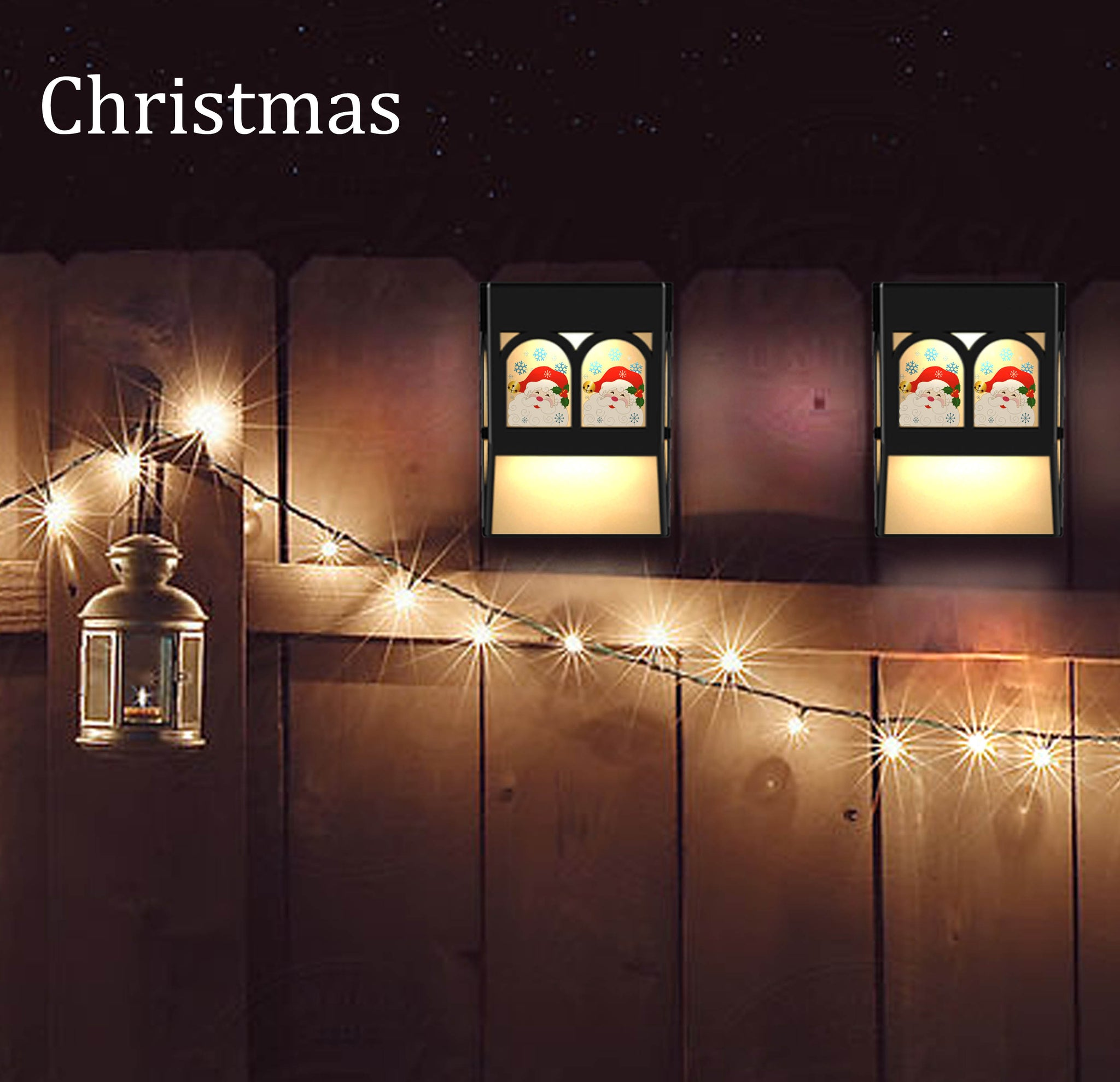 Christmas Santa Solar Powered Color Changing Mount Light Outdoor ...