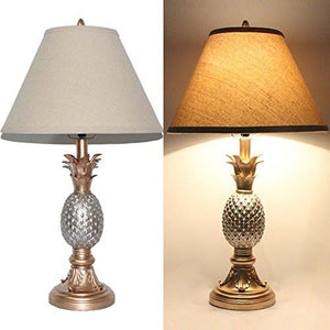 Tone Silver and Gold Pineapple Table Lamp
